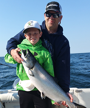 You can even catch salmon with a Sturgeon Bay Fishing Charter!