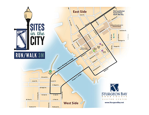 Sites in the City Run/Walk Map - 3 Mile