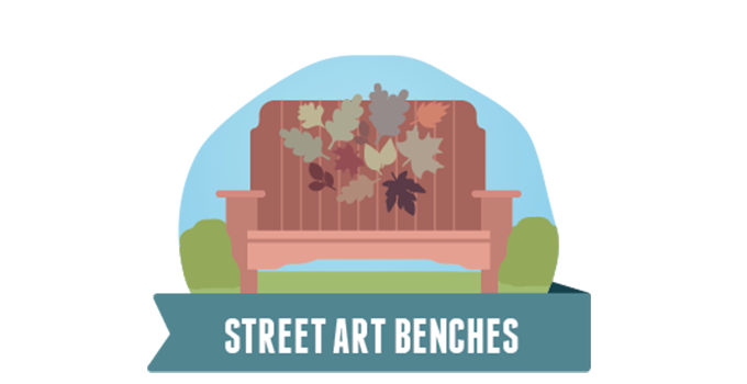 The top 9 selfie spots in sturgeon bay sturgeon bay visitor center street art benches relax stay awhile and do it on the comfort of these creatively decorated benches found a bench you want to take home solutioingenieria Image collections