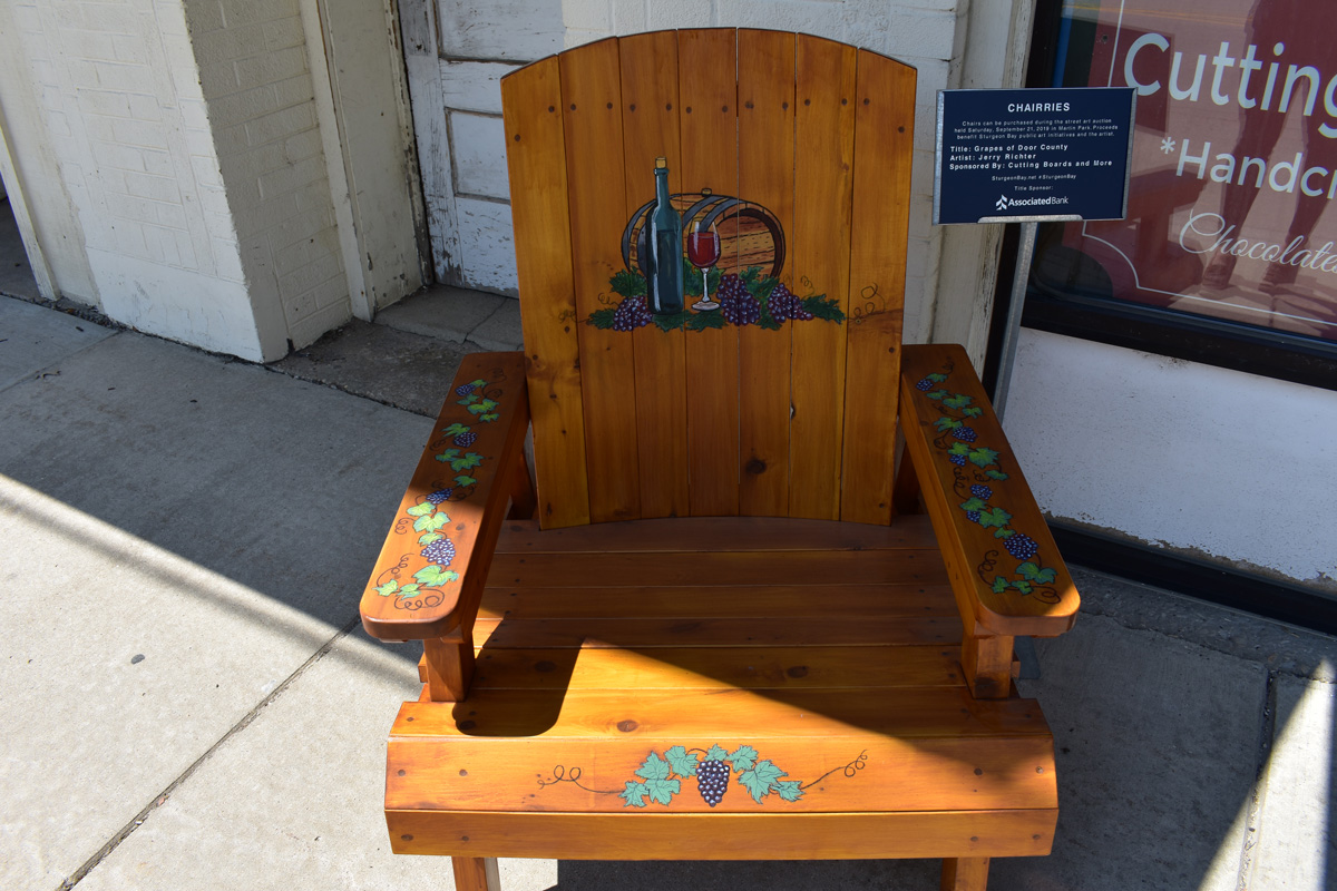 hand painted wine themed adirondack chair
