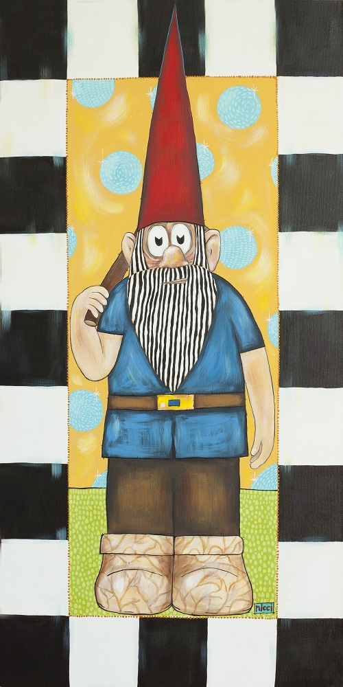 A painting of a gnome in Sturgeon Bay, Door County.