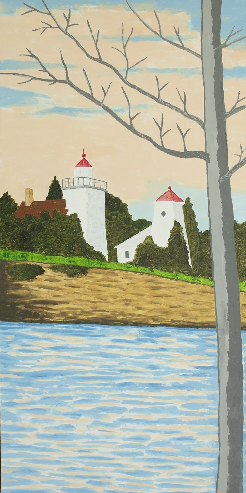 A painting of Sherwood Point in Door County.