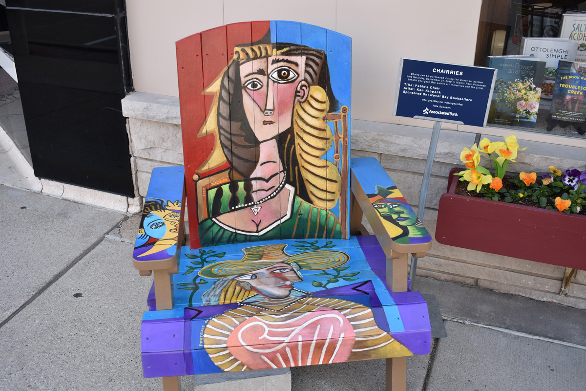 adirondack chair hand painted in Picasso style